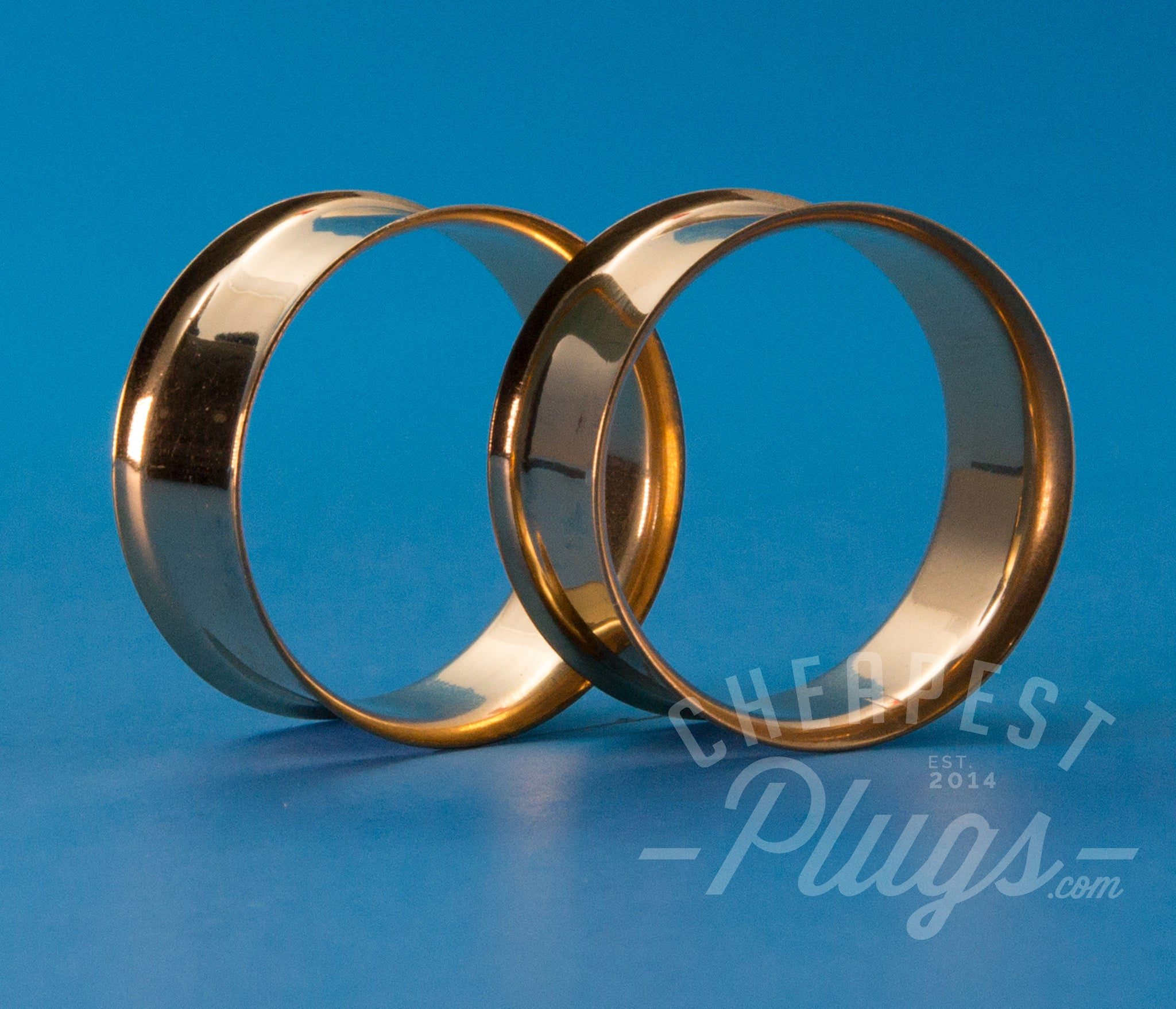 Gold Double Flare Steel Tunnels