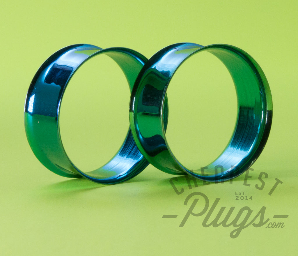 Green Double Flare Steel Tunnels