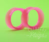Pink Silicone Ear Skins Tunnels