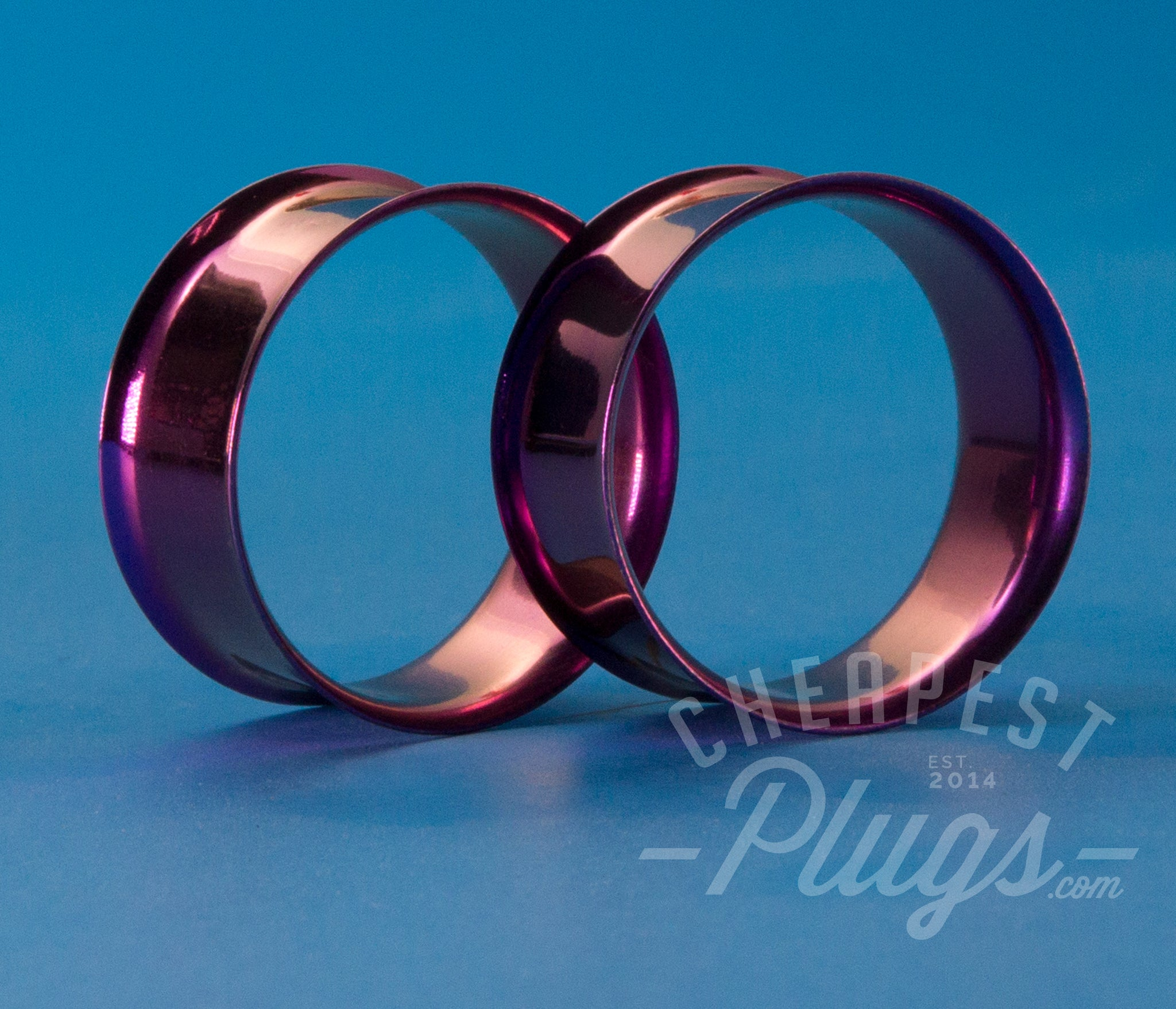 Purple Double Flare Steel Tunnels