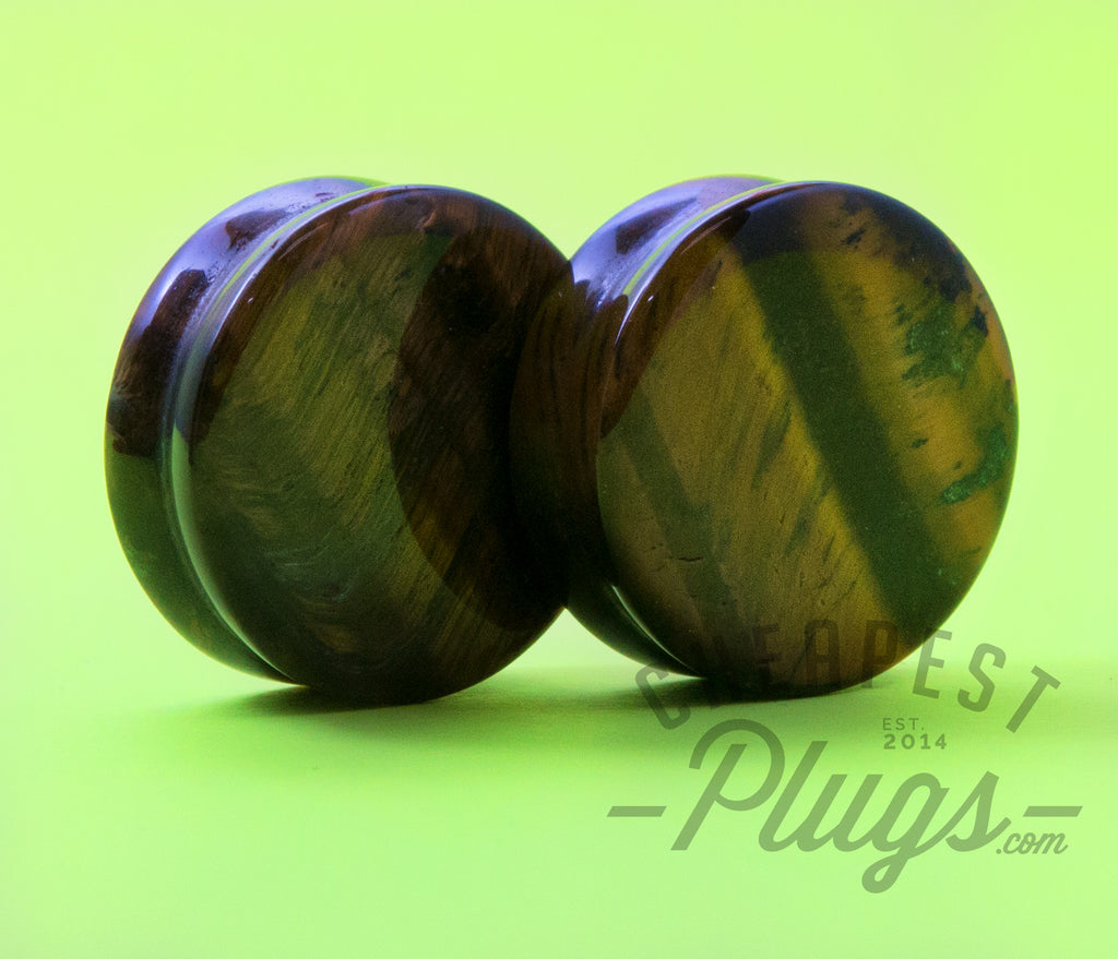 Tiger's Eye Stone Plugs