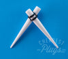White Acrylic Tapers