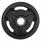VTX Olympic 300lb Rubber Grip Plate Barbell Set - Gym Gear Direct