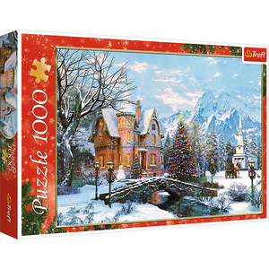 Winter Landscape Christmas - Trefl - 1000 pieces - Puzzles-and-Games.com