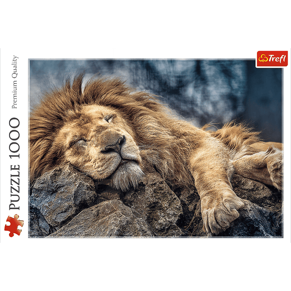 Sleeping Lion Puzzle - Trefl - 1000 pieces - Puzzles-and-Games.com