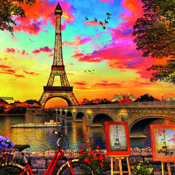 Sunset in Paris 3000 piece Jigsaw Puzzle - Puzzles-and-Games.com