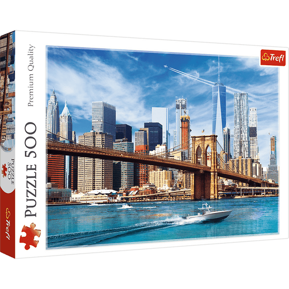 View of New York Puzzle - Trefl - 500 pieces - Puzzles-and-Games.com