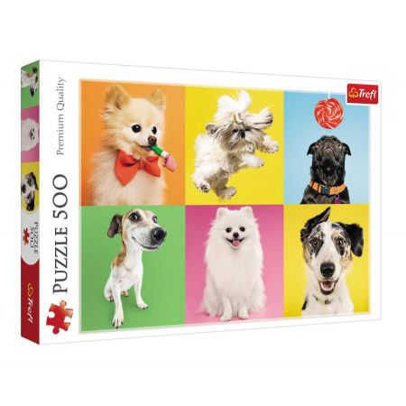 Dogs Puzzle - Trefl - 500 pieces - Puzzles-and-Games.com