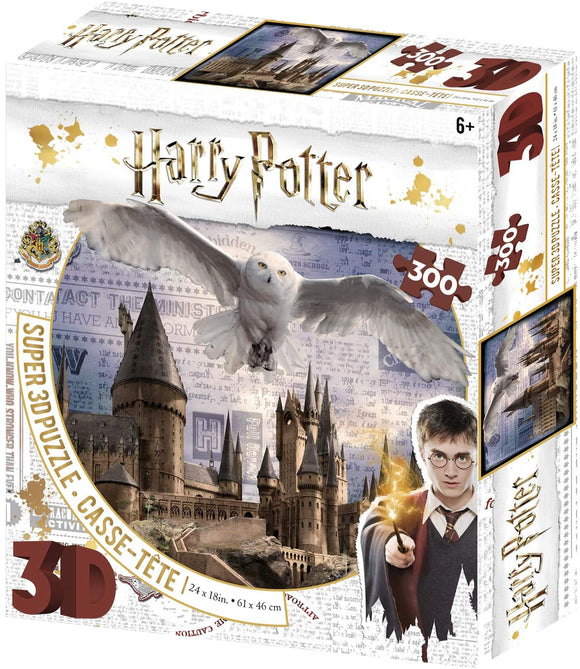 Harry-Potter-3D-Jigsaw-Puzzle-Hogwarts-and-Hedwig-the-Owl-Puzzle-300-Pieces