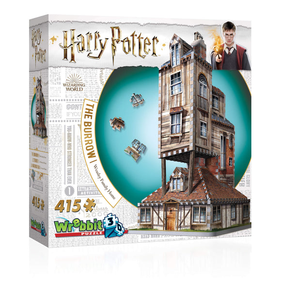 Harry Potter 3D Jigsaw Puzzle The Burrow The Weasley's Family Home 415 Pieces Wrebbit