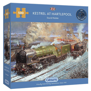 KESTREL AT HARTLEPOOL 500 PIECE JIGSAW TRAIN PUZZLE - Puzzles-and-Games.com