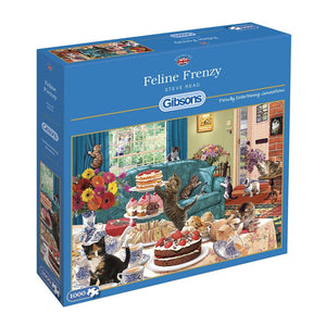 Feline Frenzy 1000 Piece Jigsaw Cat Puzzle - Puzzles-and-Games.com