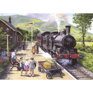 All Aboard to Keswick 1000 Piece Train Jigsaw Puzzle - Puzzles-and-Games.com