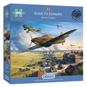 Gibsons Road to Dunkirk 1000 Piece Jigsaw Puzzle - Puzzles-and-Games.com
