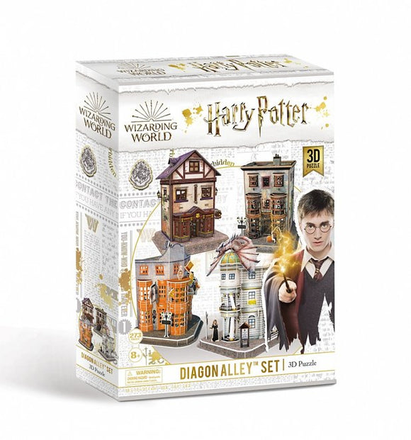 Harry Potter 3D Puzzle - Diagon Alley Set of Four - Puzzles-and-Games.com