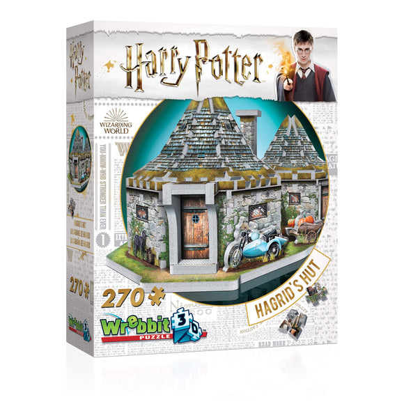 Harry Potter 3D Jigsaw Puzzle Hagrid's Hut 270 Pieces Wrebbit