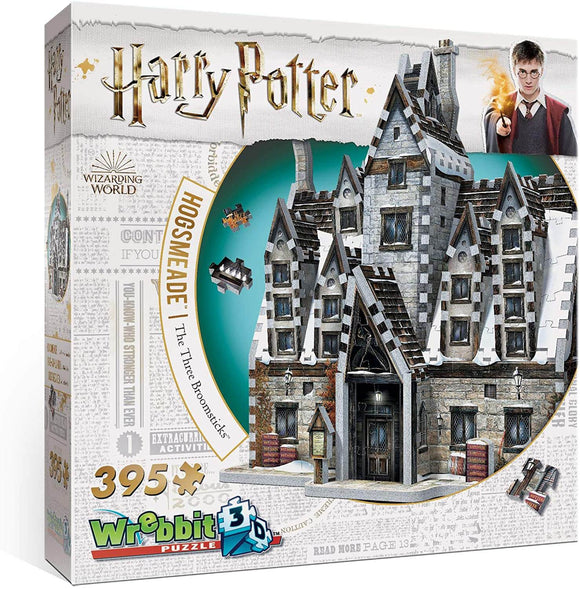 Harry Potter 3D Jigsaw Puzzle Hogsmeade The Three Broomsticks 395 Pieces Wrebbit