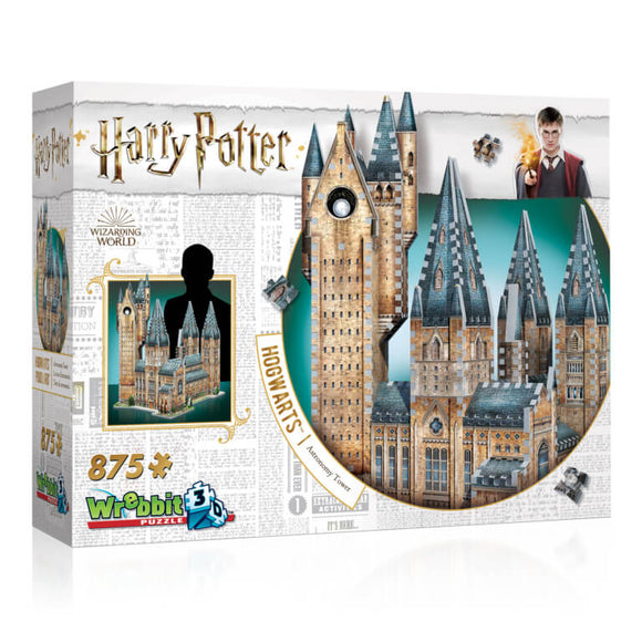 Harry Potter 3D Jigsaw Puzzle Hogwarts Astronomy Tower 875 Pieces Wrebbit