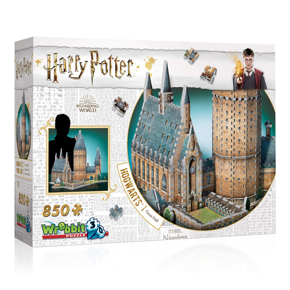 Harry Potter 3D Jigsaw Puzzle Hogwarts Castle Great Hall 850 Pieces Wrebbit