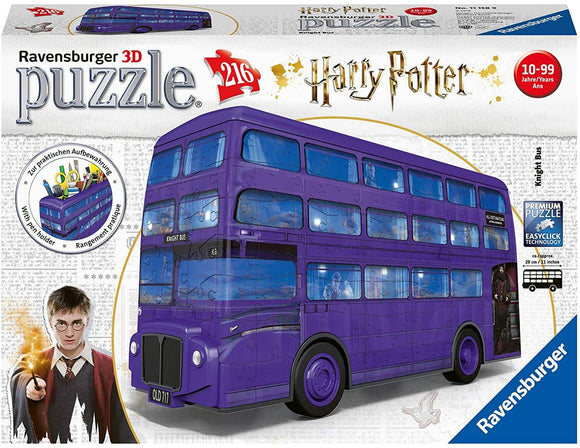 Harry Potter 3D Jigsaw Puzzle Knight Bus 216 Pieces Ravensburger