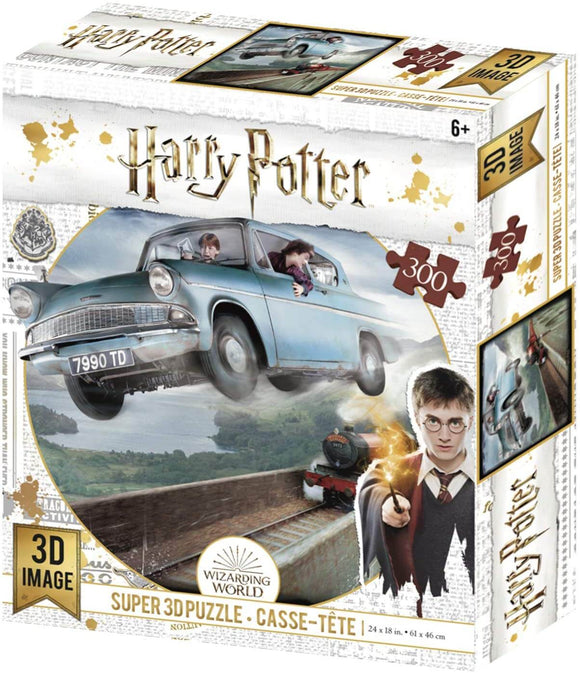 Harry Potter 3D Puzzle Weasley's Flying Blue Car Ford Anglia 300 Piece Jigsaw