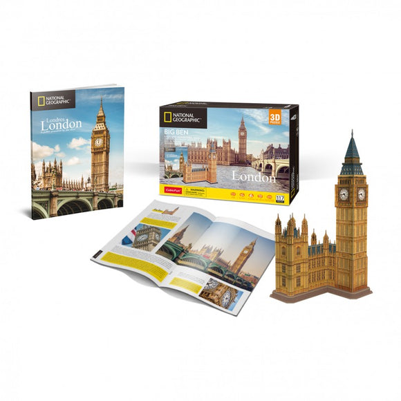 Big Ben 3D Puzzle National Geographic - Puzzles-and-Games.com