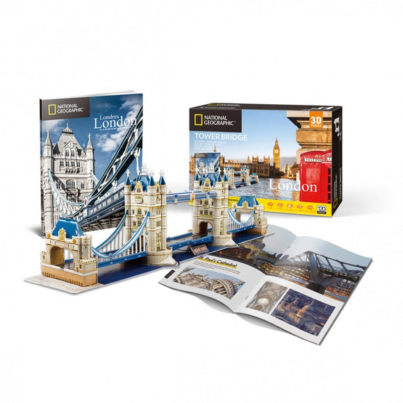 Tower Bridge 3D Puzzle - National Geographic - Puzzles-and-Games.com