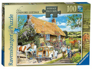 The Country Cottage Puzzle - Ravensburger - 100 pieces - Puzzles-and-Games.com