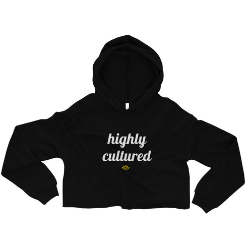 Highly Cultured Women's Crop Hoodie