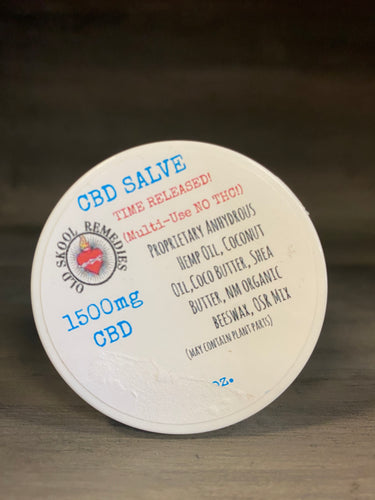 Old Skool Remedies SALVE CBD Only Salve 1500mg - Time Released