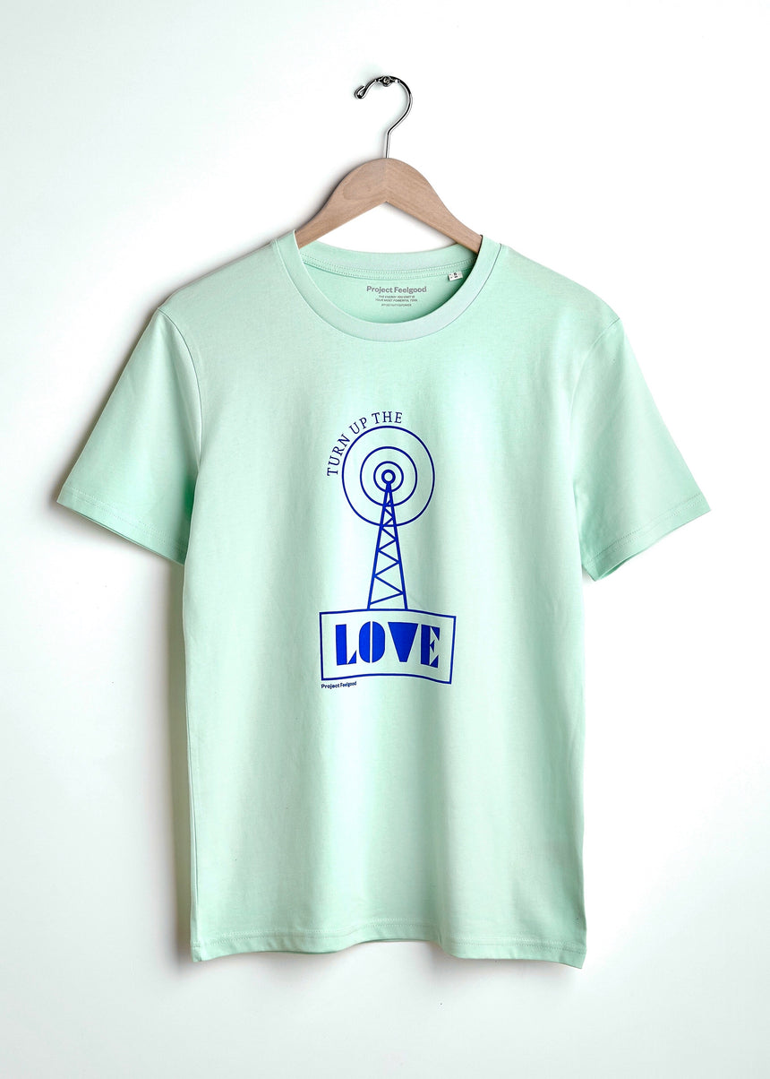 Turn Up The Love - Mint Green - Unisex Tee