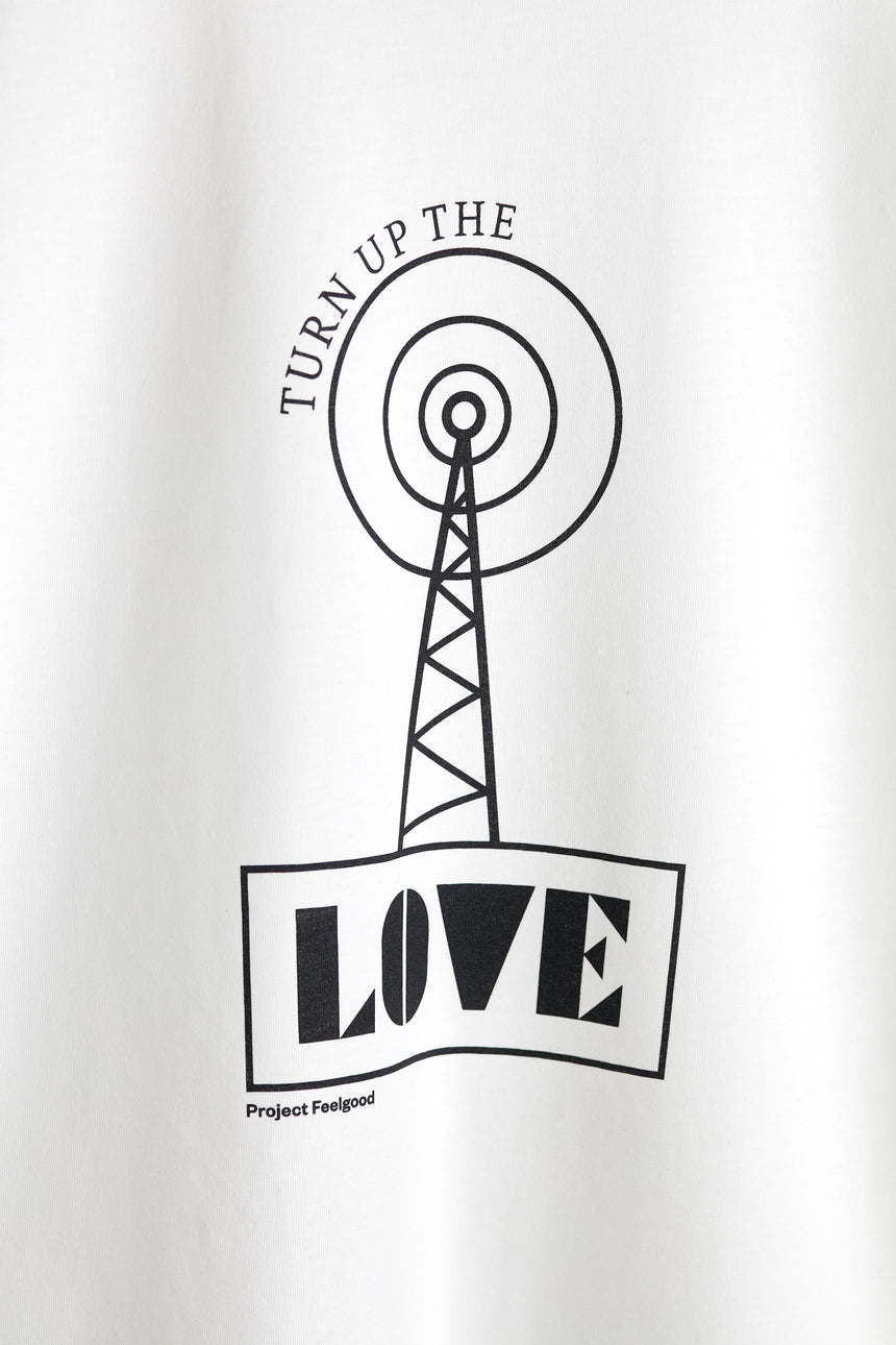 Turn Up The Love - Chalk White - Unisex Tee