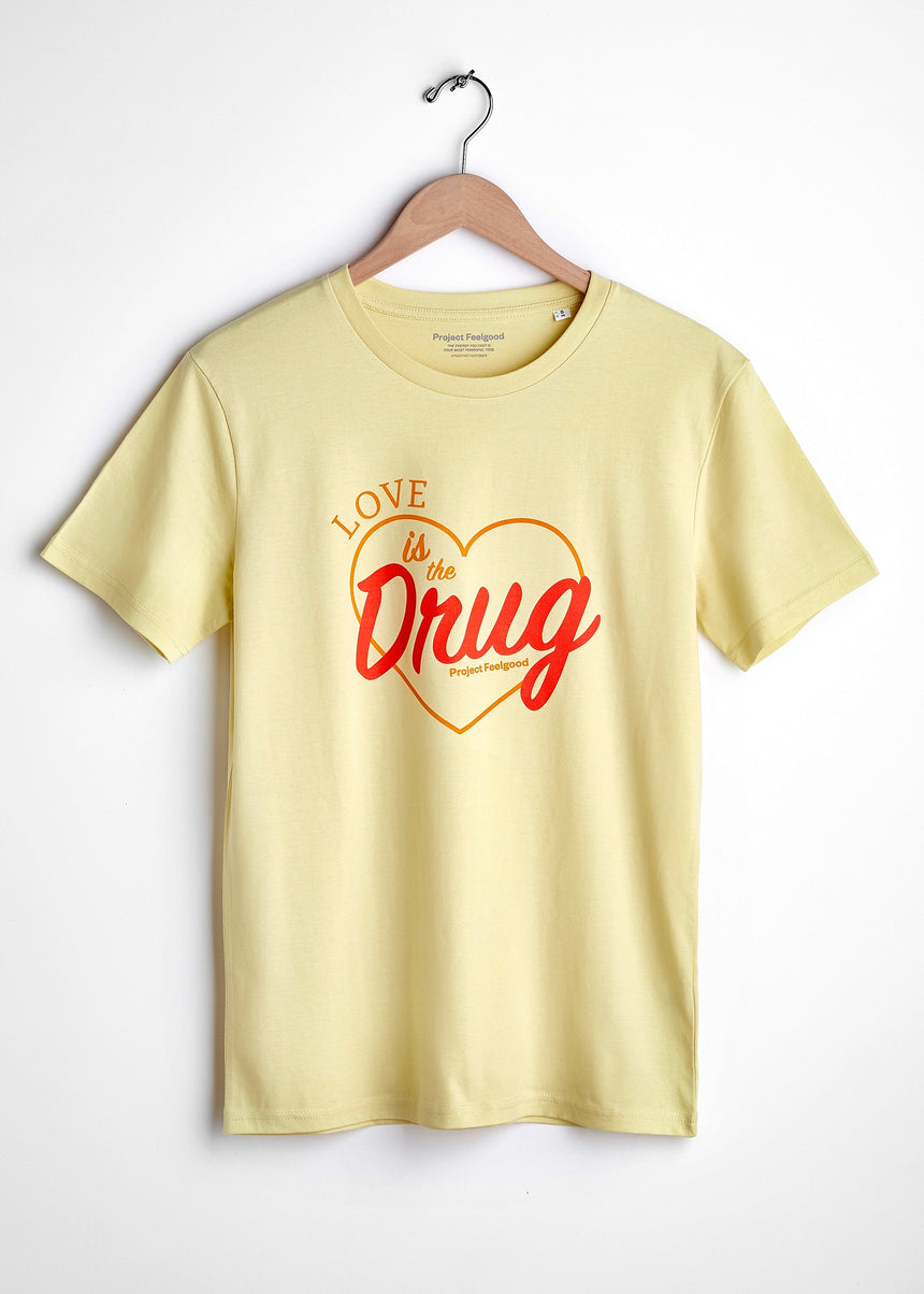 Love Is The Drug - Daisy Yellow - Unisex Tee