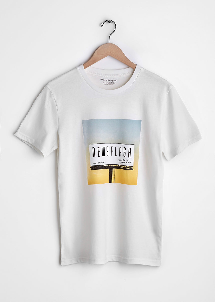 Newsflash - Chalk White - Unisex Tee