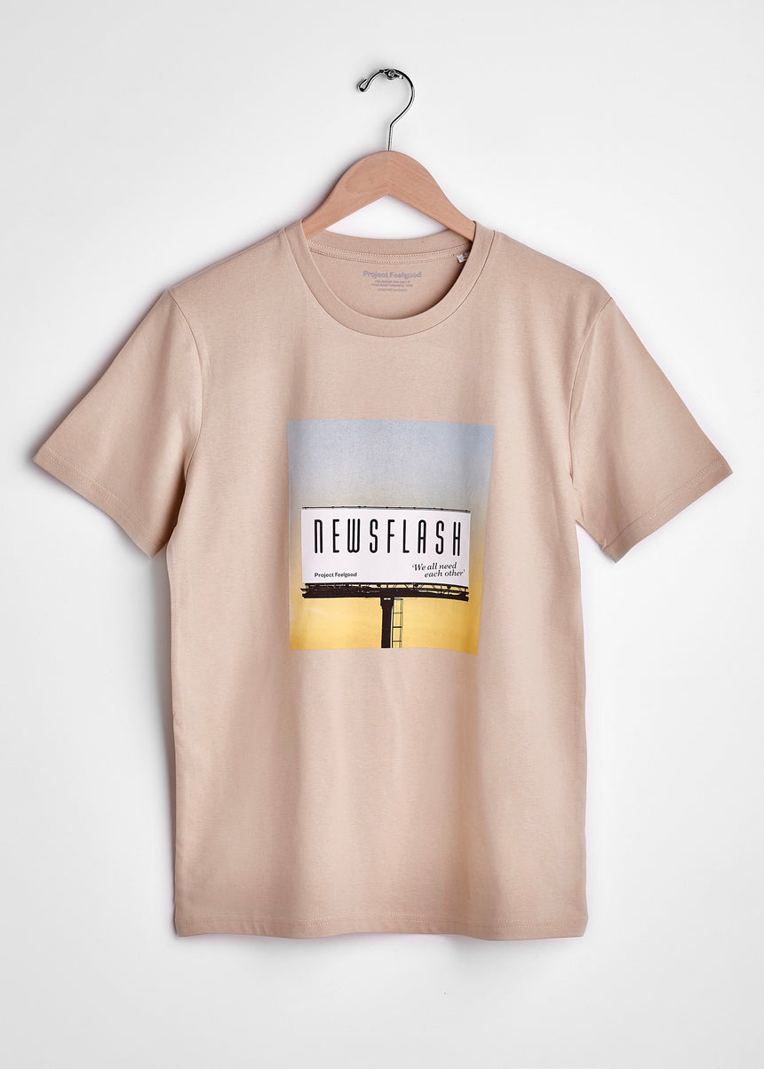 Newsflash - Sahara Dust - Unisex Tee
