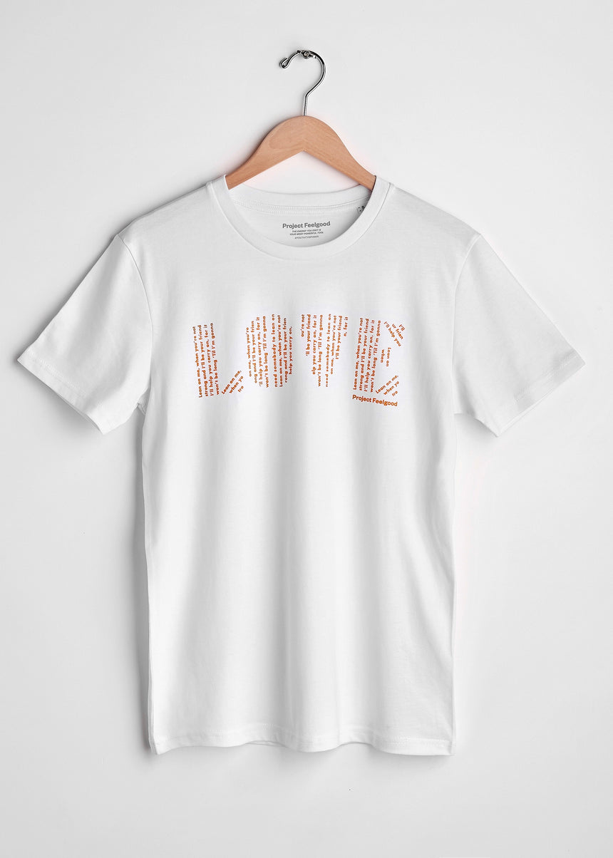 Love (Lean On Me) - Arctic White - Unisex Tee