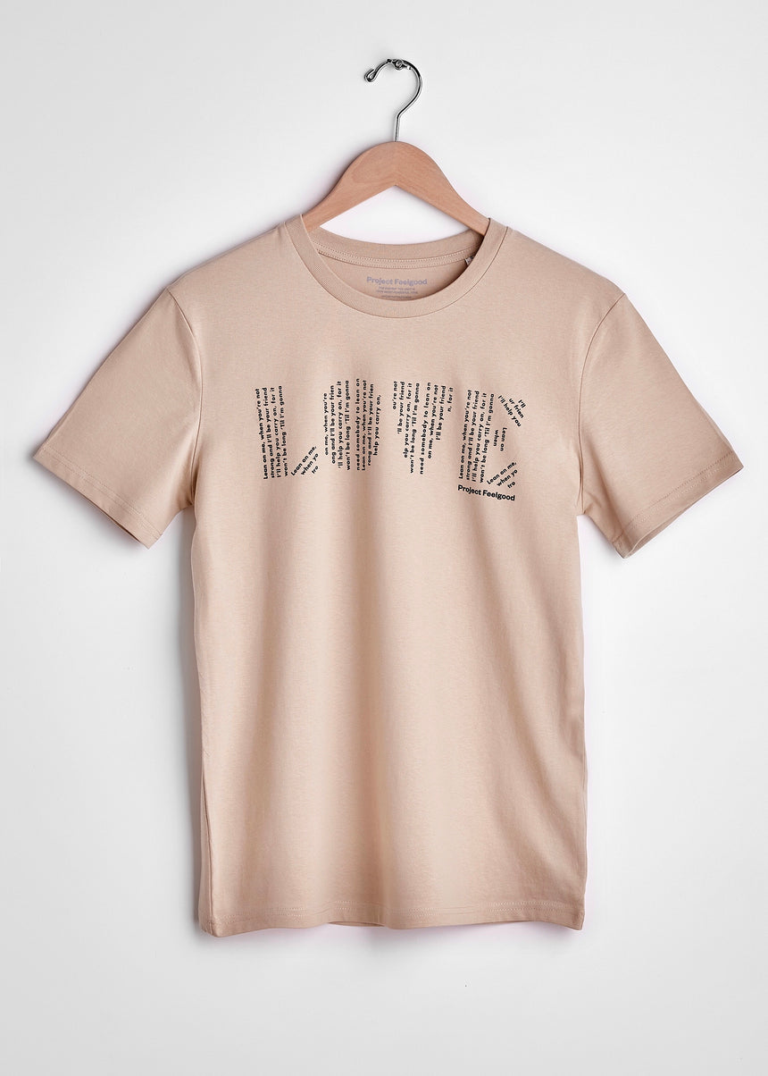 Love (Lean On Me) - Sahara Dust - Unisex Tee