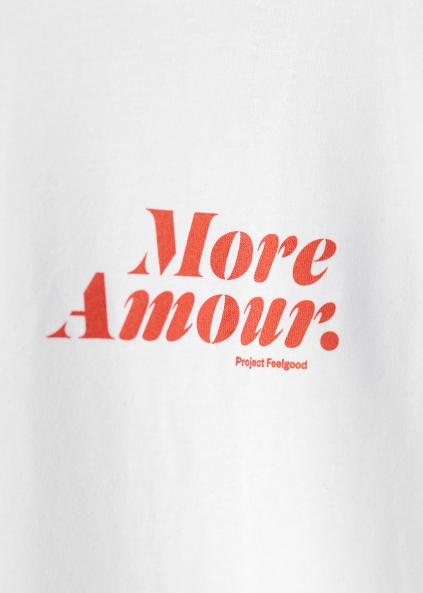 More Amour - Arctic White - Unisex Tee