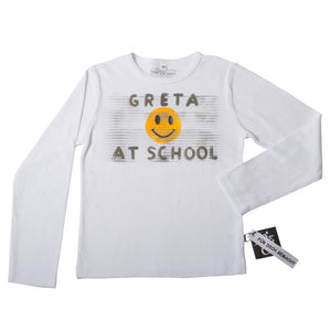 "Shirt ""Smily at school und Name"""