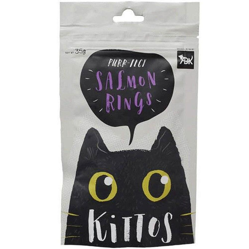 Kittos Purr-Fect Salmon Rings Cat Treats - 35 gms