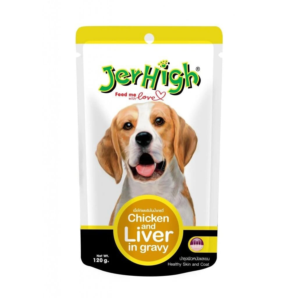 Jerhigh Chicken and Liver in Gravy 120g ( Pack of 12)