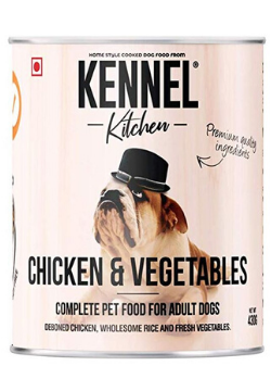 Kennel Kitchen Adult Wet Dog Food, Chicken and Vegetables, 430 GMS (Pack of 4)