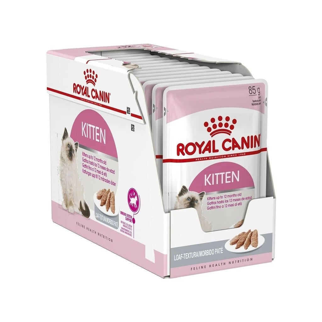 Royal Canin Kitten Instinctive Loaf Mousse Pate 85g (Pack of 12)