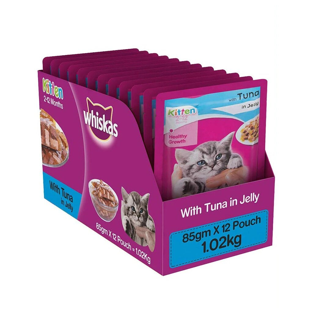 Whiskas Kitten Tuna in Jelly 85g (Pack of 12)