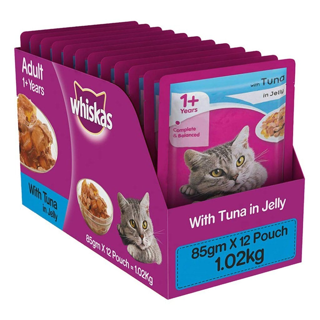Whiskas Adult Tuna in Jelly 85g (Pack of 12)