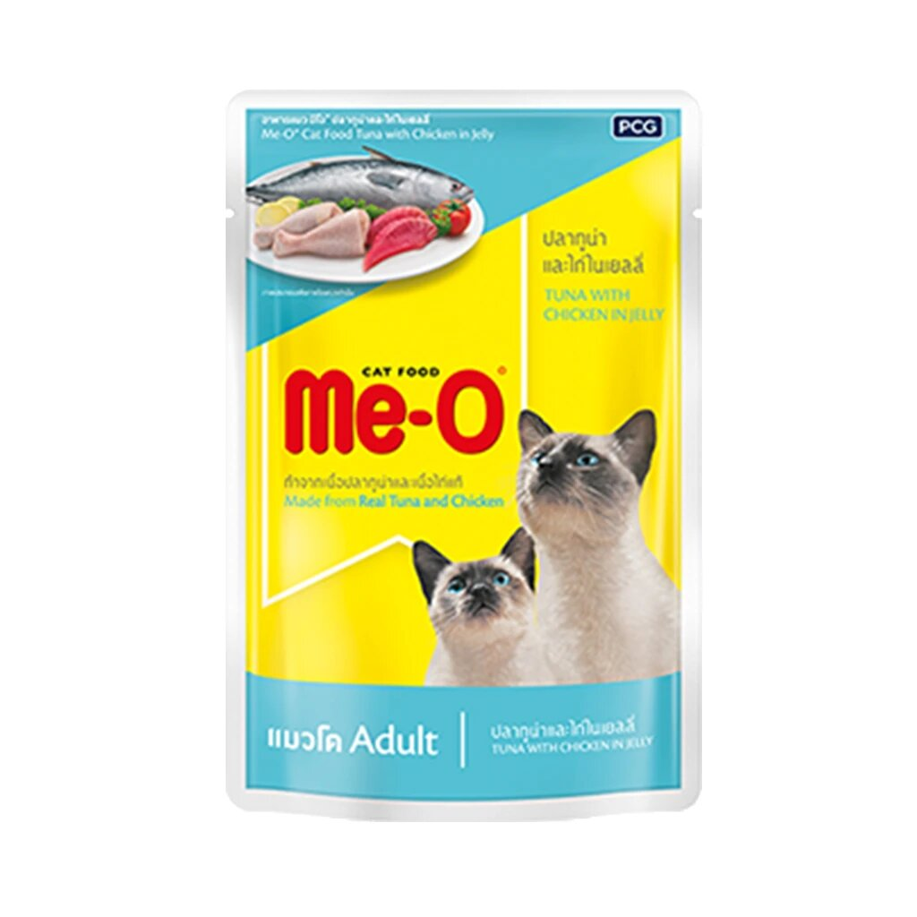 Me-O Tuna with chicken in jelly 80g (Pack of 12)