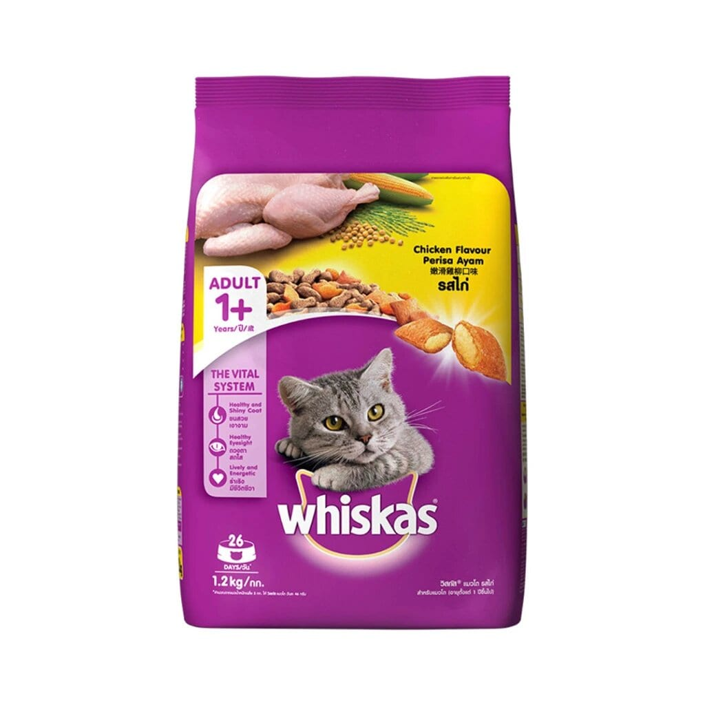Whiskas Adult Chicken Flavor 1.2KG