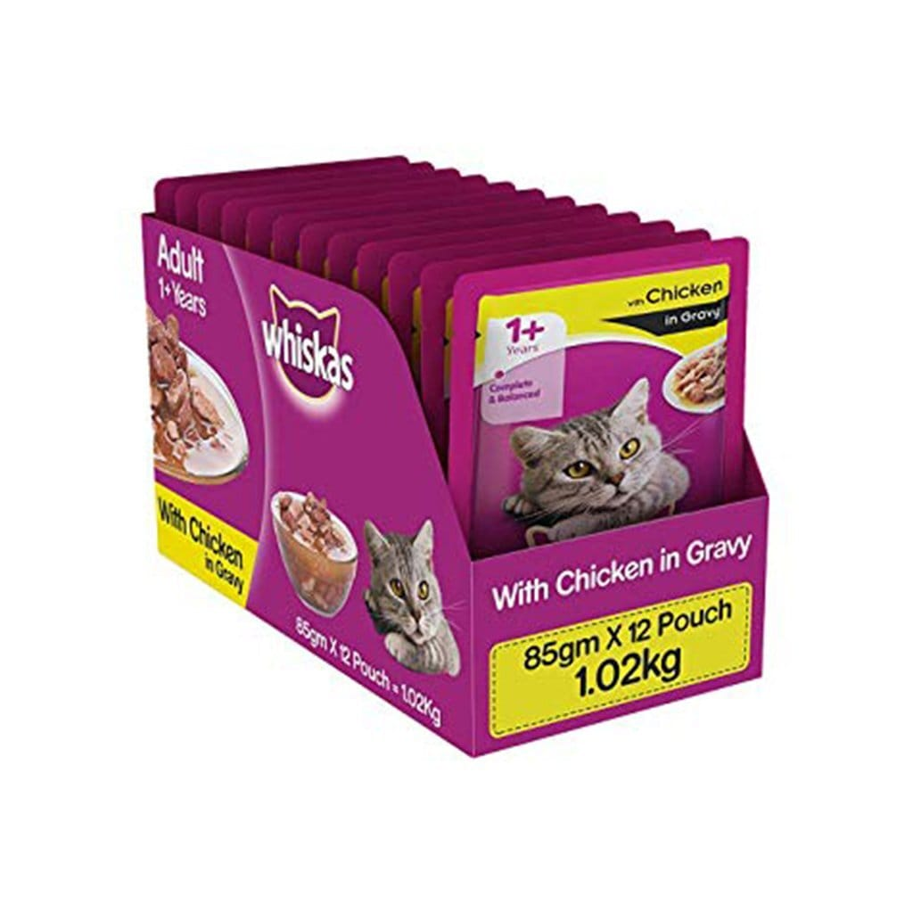 Whiskas Adult Chicken in Gravy 85g (Pack of 12)