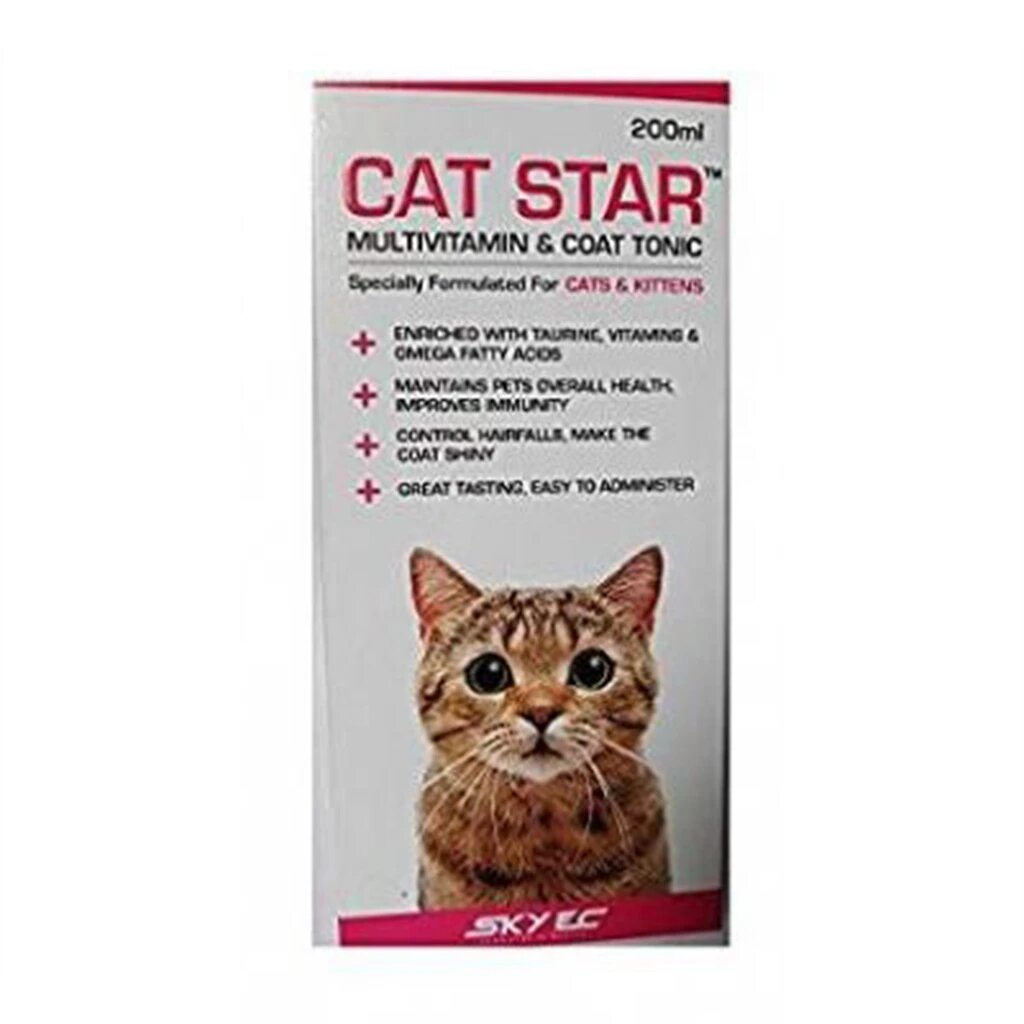 SKyEc Cat Star Multivitamin & Coat Tonic - 200ml