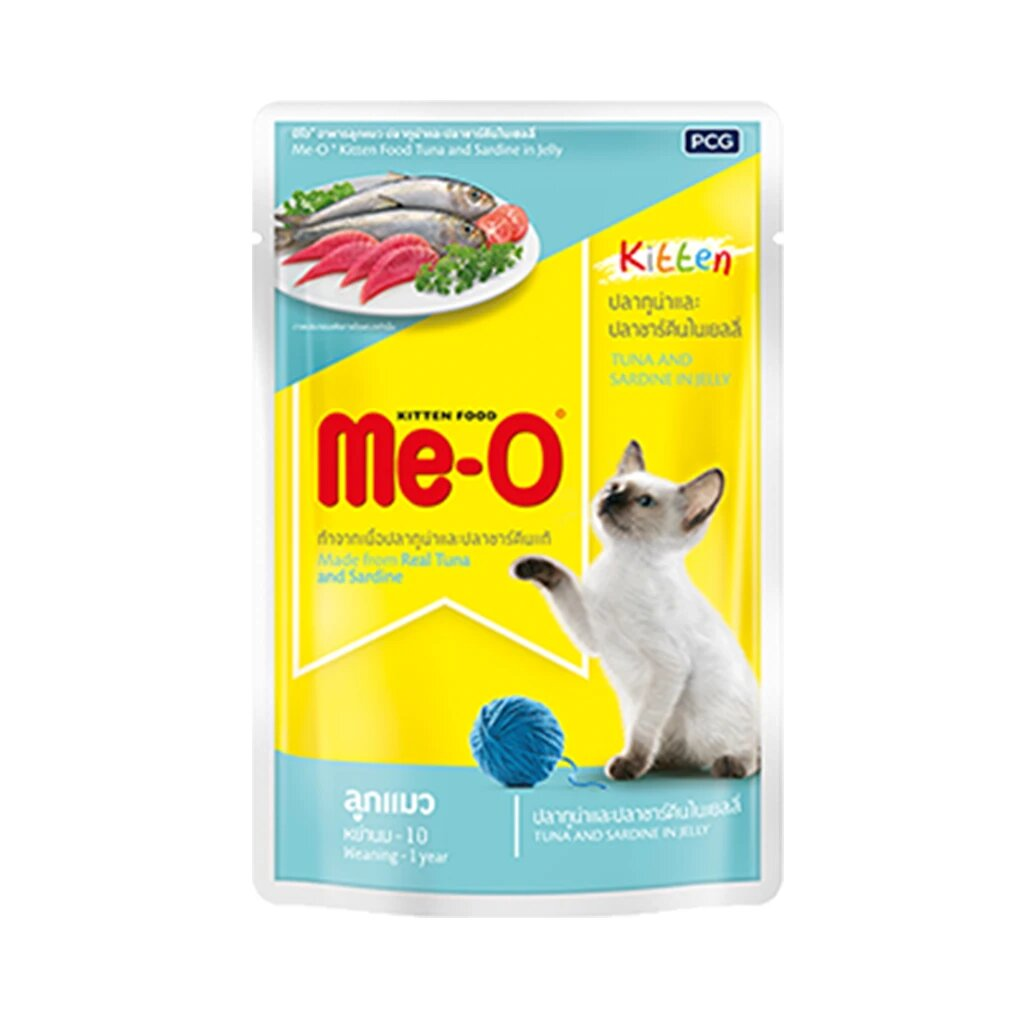 Me-O Kitten Tuna and Sardine in jelly 80g (Pack of 12)